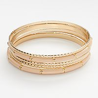 LC Lauren Conrad Twist Bangle Bracelet Set