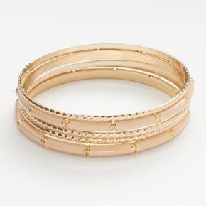 LC Lauren Conrad Twist Bangle Bracelet Set
