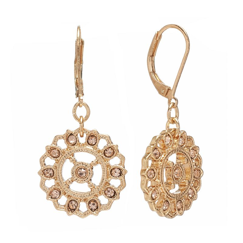 earrings kohls lc conrad openwork drop earrings 6770