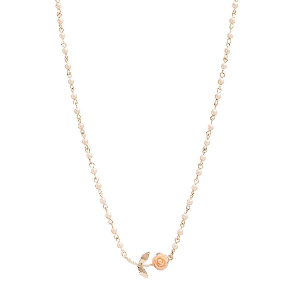 LC Lauren Conrad Rose Necklace