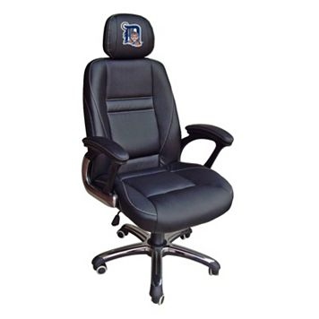 Detroit Tigers Head Coach Leather Office Chair