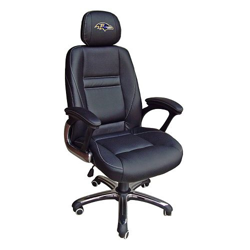 Groovy Baltimore Ravens Head Coach Leather Office Chair Machost Co Dining Chair Design Ideas Machostcouk