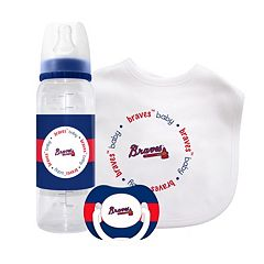 Atlanta Braves 3 pc Baby Gift Set