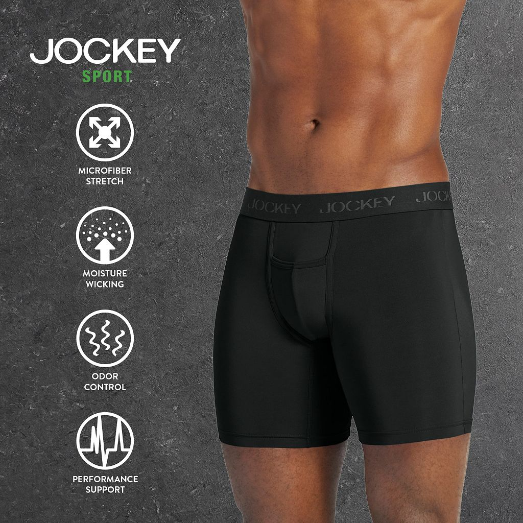 Big & Tall Jockey Microfiber Sport Performance Boxer Brief