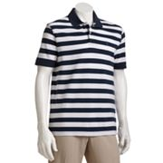 Arrow Striped Pique Polo - Men