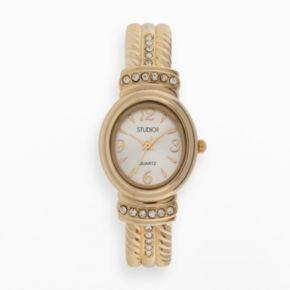 Studio Time Women's Crystal Bangle Watch