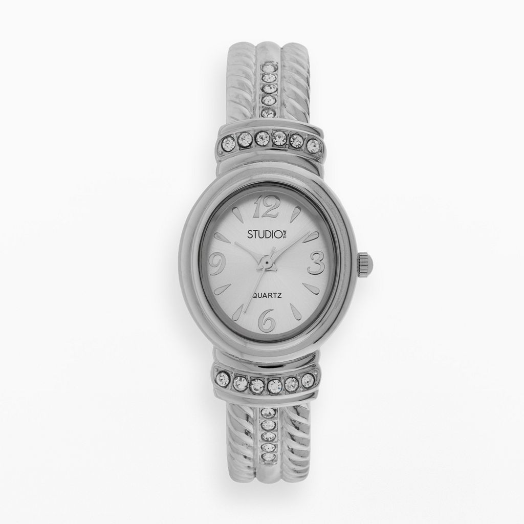 Studio Time Women's Crystal Bangle Watch
