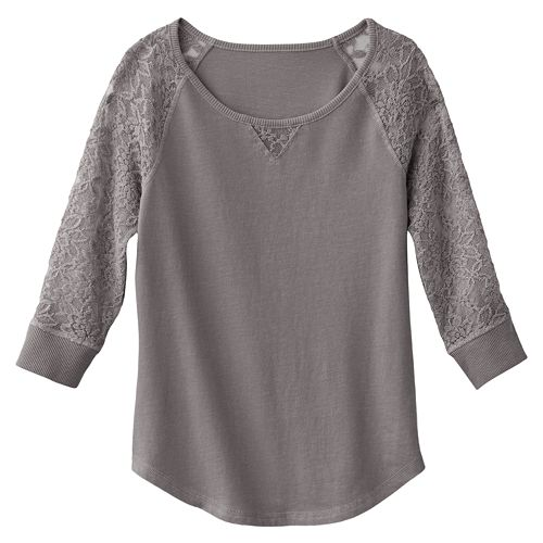 Mudd® Lace-Sleeved Top - Girls 7-16