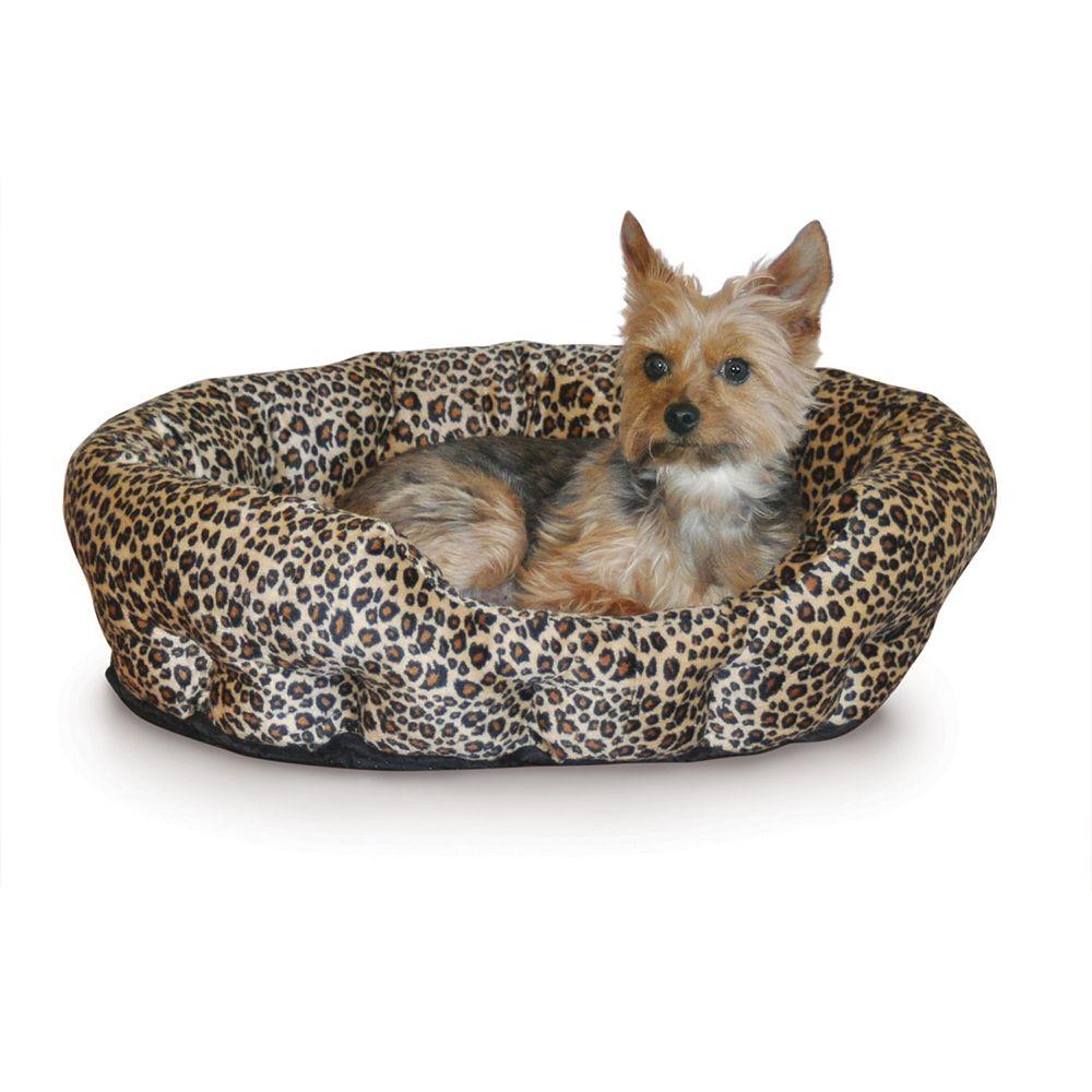 """K&H Pet Nuzzle Nest Leopard Self-Warming Round Pet Bed - 19"""""""