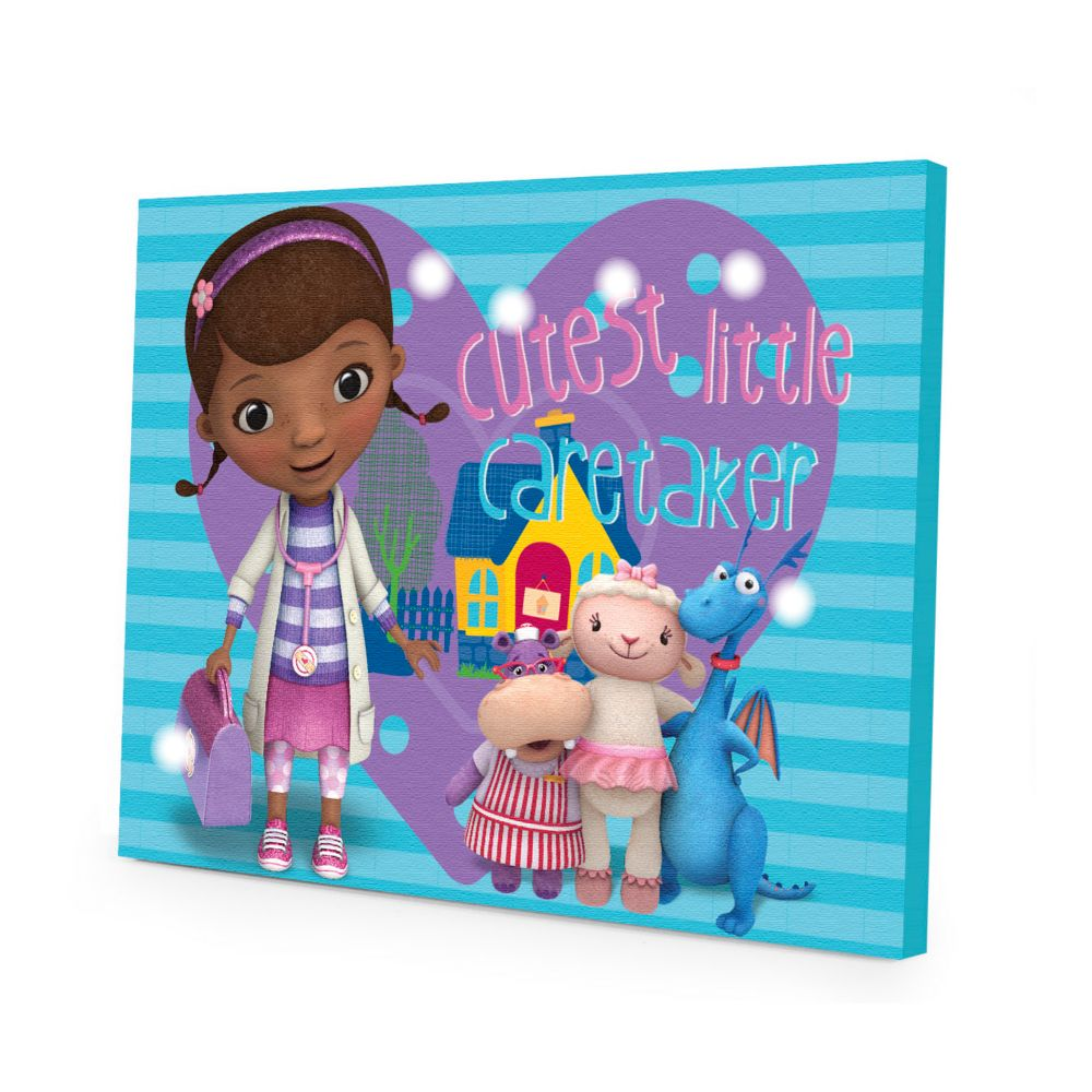 Light Up Wall Art doc mcstuffins led light-up canvas wall art