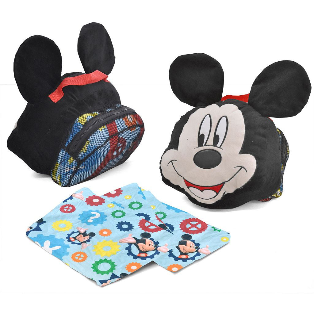 Disney Mickey Mouse Travel Pillow and Convertible Slumber Sack Set