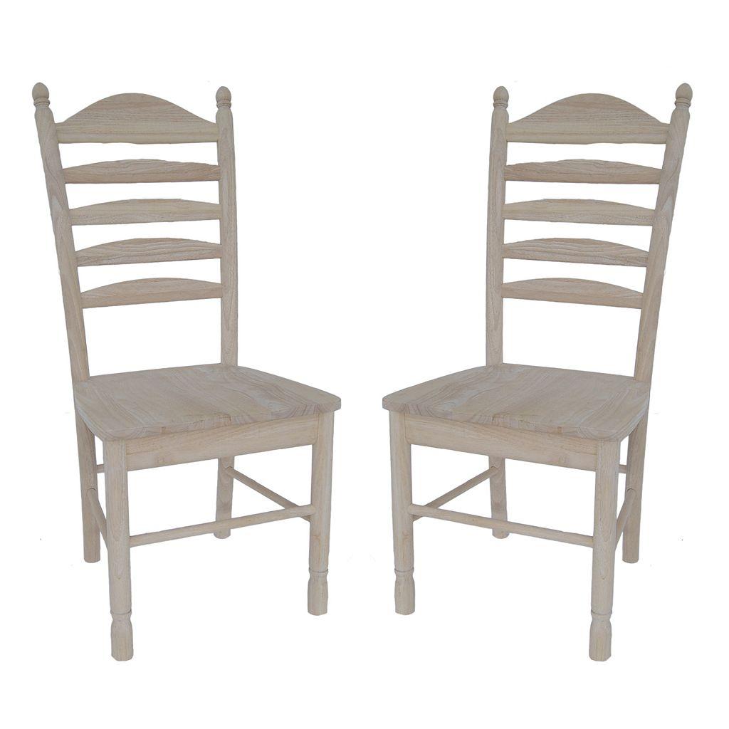 2-pc. Bedford Ladder-Back Chair Set