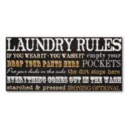 Laundry Rules Wall Plaque