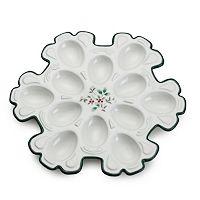 Pfaltzgraff Winterberry Snowflake Egg Tray