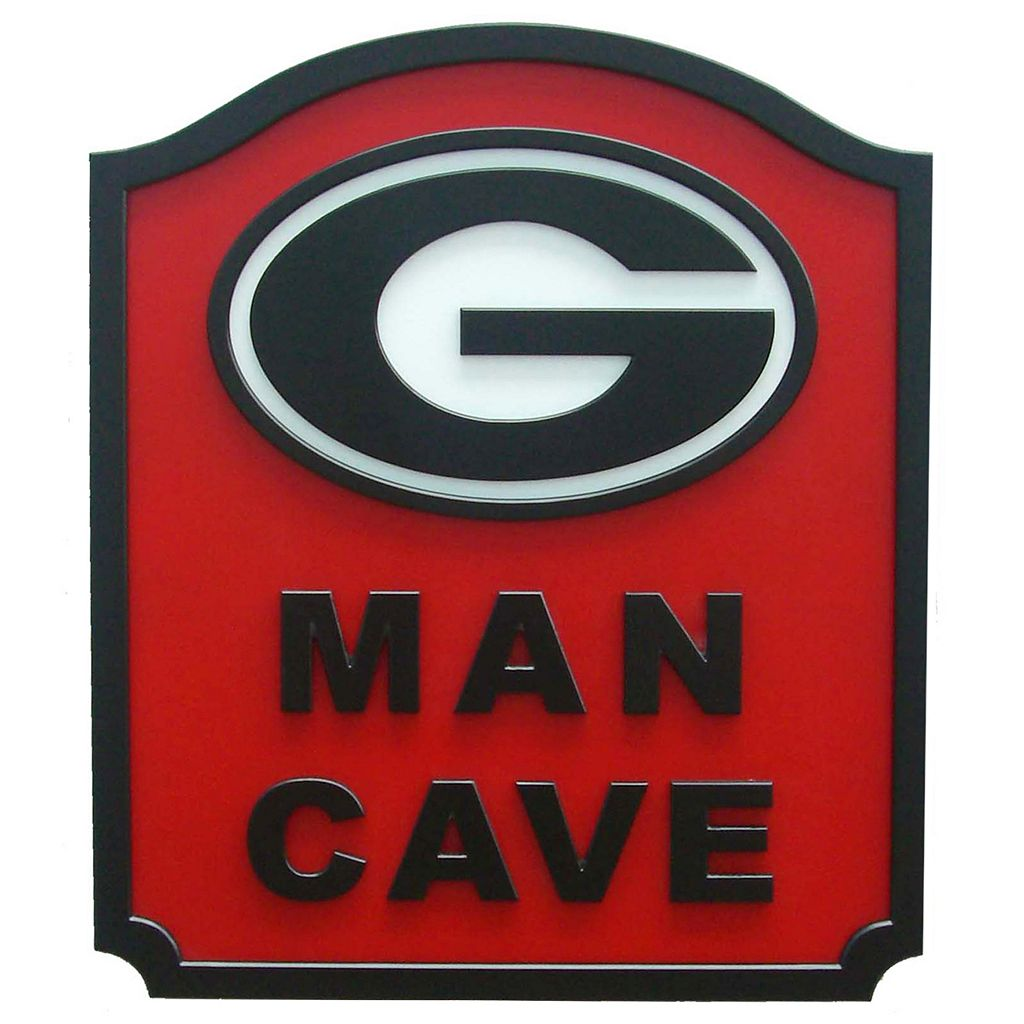 Georgia Bulldogs Man Cave Shield Wall Art