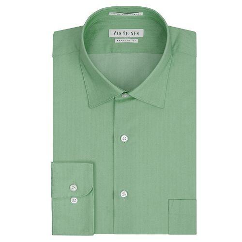 cfbd1f51682d Van Heusen Regular-Fit Royal Herringbone Easy-Care Spread-Collar Dress Shirt  - Men