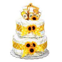 Burt's Bees Baby Organic Diaper Cake Gift Basket - Neutral