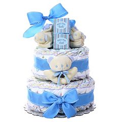 Baby Boy Baby Cakes Size 2 Diaper Cake Gift Basket