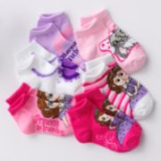 Disney Sofia the First 6-pk. 1/4-Crew Socks - Toddler