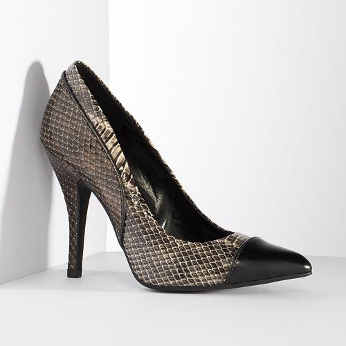 Simply Vera Vera Wang Snakeskin High Heels - Women