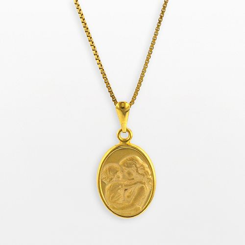 14k Gold Over Silver Motherly Love Pendant