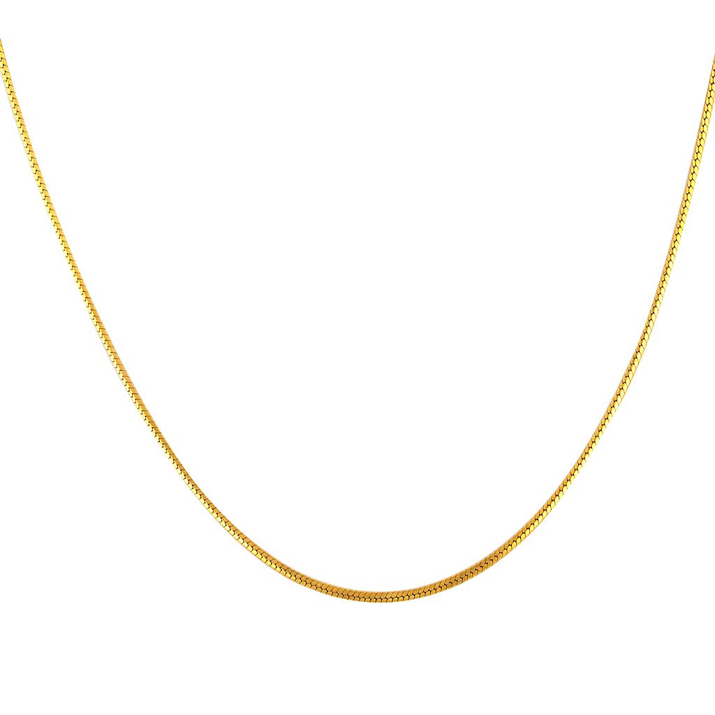 18k Gold Over Silver Snake Chain Necklace