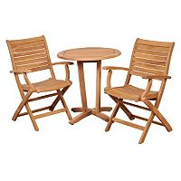 Amazonia Teak 3 pc Patio Bistro Set