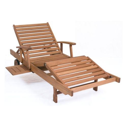 Amazonia Mariscal Chaise Wheeled Outdoor Lounge Chair