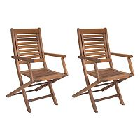 Amazonia Parati 2 pc Outdoor Folding Arm Chair Set