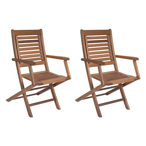 Amazonia Parati 2-pc. Outdoor Folding Arm Chair Set