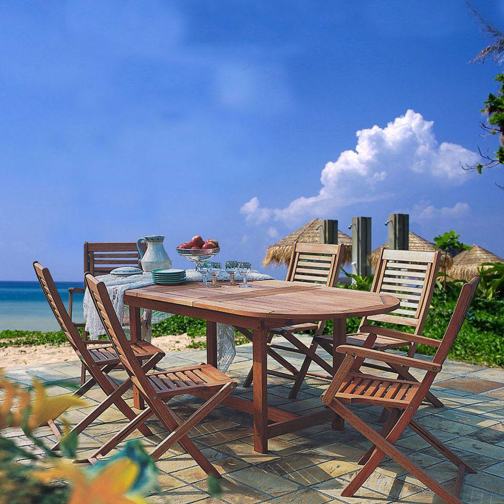 Amazonia Parati 2-pc. Outdoor Folding Arm Chair Set