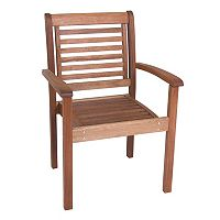 Amazonia Milano Outdoor Stacking Arm Chair