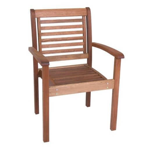 Amazonia Milano Outdoor Stacking Arm Chair