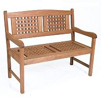 Amazonia Portoreal Wood Outdoor Bench