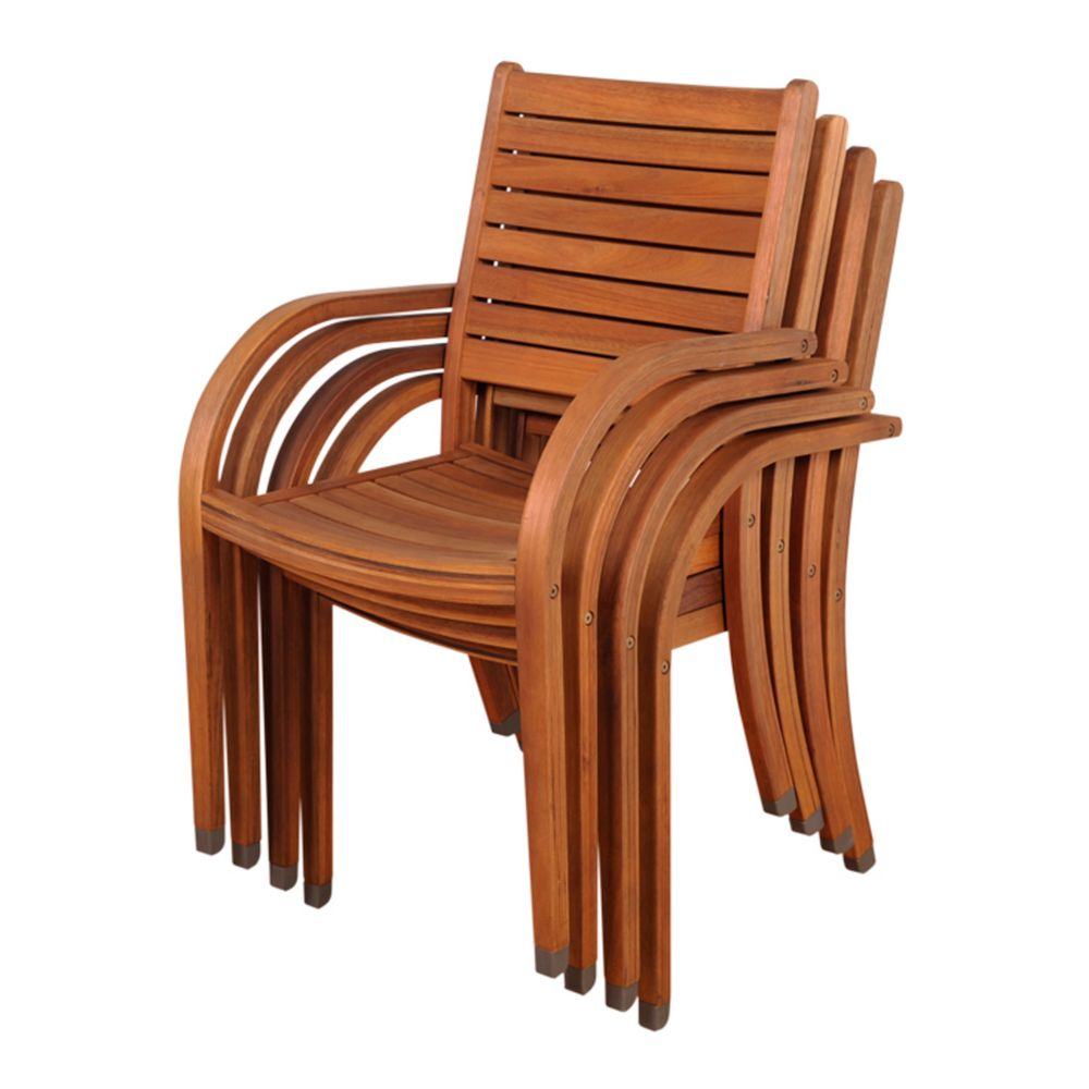Catalina 4 pc Outdoor Stacking Chair Set