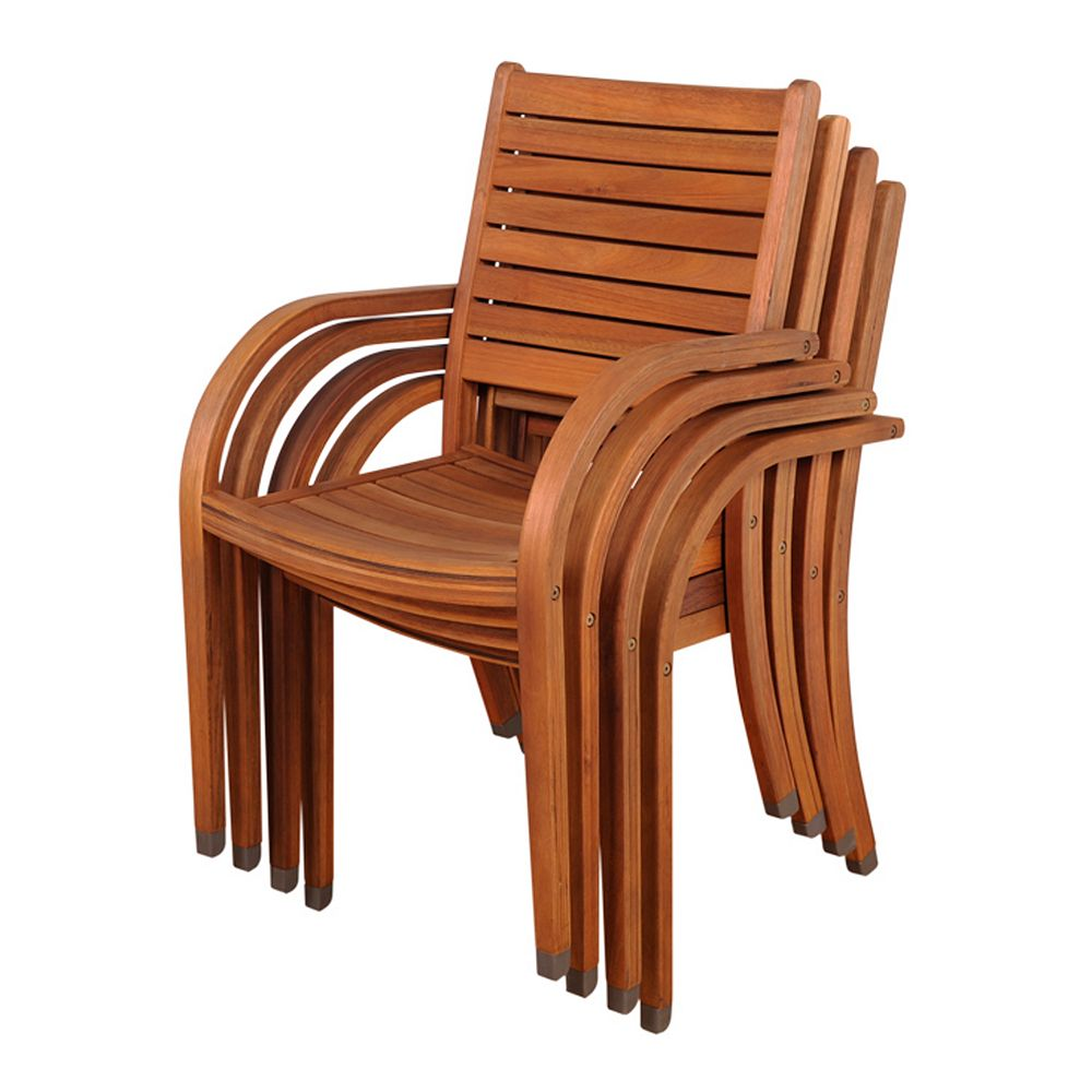 amazonia catalina 4 pc outdoor stacking chair set