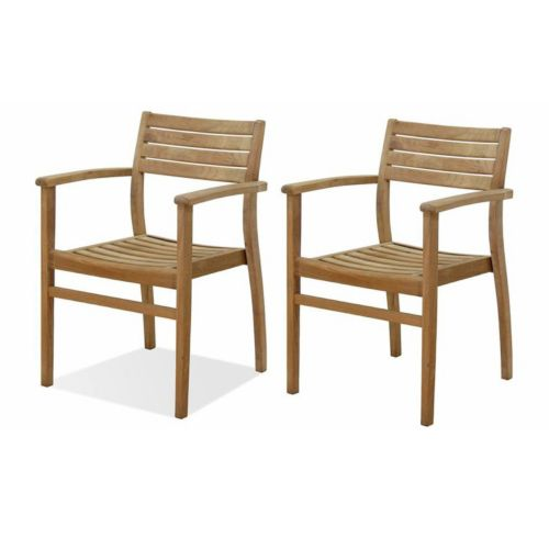 Amazonia Teak 2-pc. Teak Ninia Outdoor Arm Chair Set