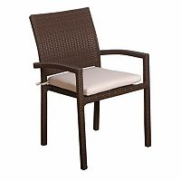 Atlantic 8 pc Liberty Wicker Outdoor Chair Set