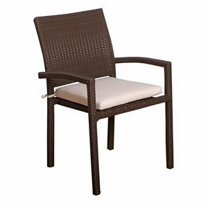 Bari Wicker Outdoor Arm Chair Set