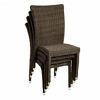 Atlantic 4 pc Bari Wicker Outdoor Chair Set