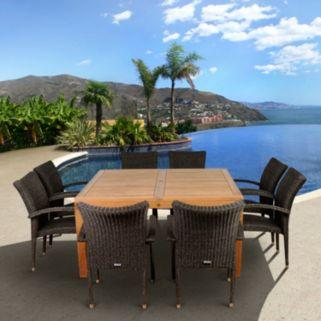 Atlantic 4-pc. Bari Wicker Outdoor Arm Chair Set