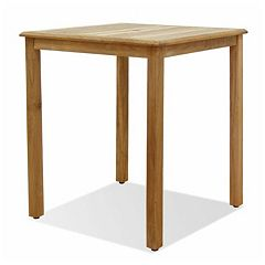 Amazonia Teak Teak Ares Square Outdoor Bar Table