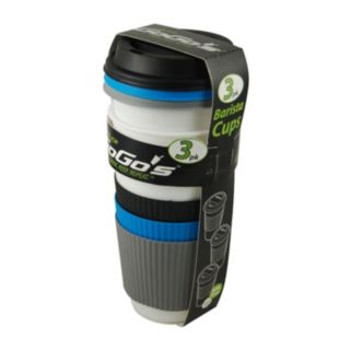 Reduce GoGo's Barista Slate White 3-pc. Travel Mug Set
