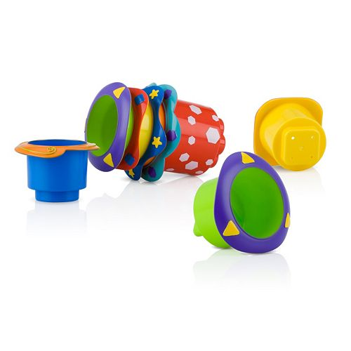 Nuby 5-pk. Stackable Bath Cups