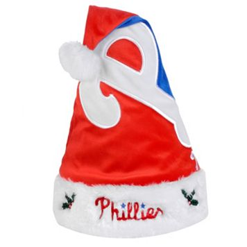 Adult Forever Collectibles Philadelphia Phillies Colorblock Santa Hat