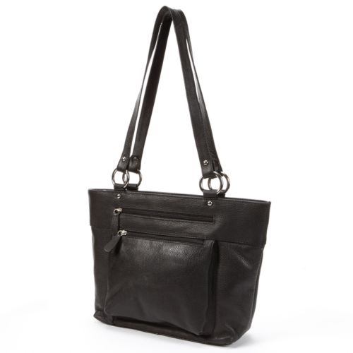 R&R Leather Zipper Leather Tote