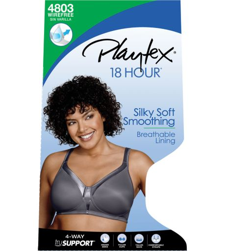 Playtex Bra: 18-Hour Sensationally Sleek Full-Figure Full-Coverage Wireless Bra 4803 - Women's