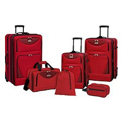 Travelers Club Tone on Tone 6 pc Wheeled Luggage Set