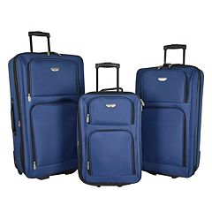 Travelers Club Value 3-Piece Wheeled Luggage Set