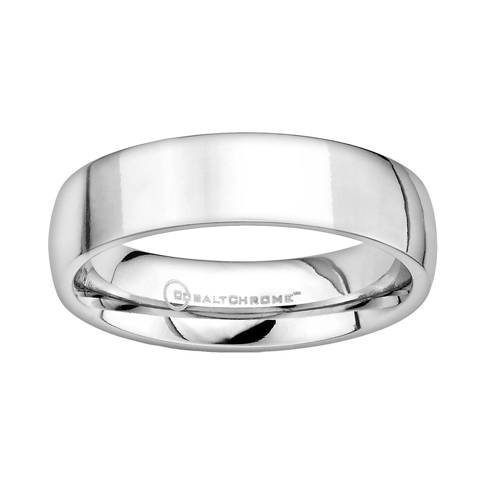 Mens Wedding Band.Cobalt Chrome Wedding Band Men